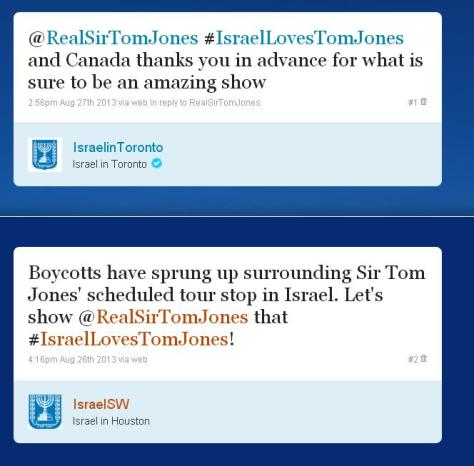 Israeli Embassies Use Tom Jones